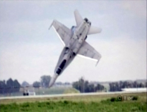 Canadian fighter jet CF-18 crashes to an air show in Lethbridge July 2010