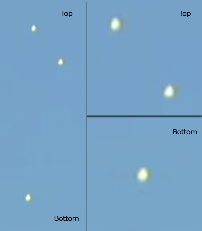 NYC UFO Triangle Formation Image Collage (Original picture)