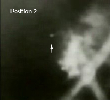 UFO Sphere in motion (pos. 2) in Battle of LA 1942 footage