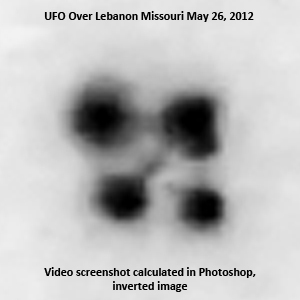 UFO over Lebanon, Missouri, May 26, 2012