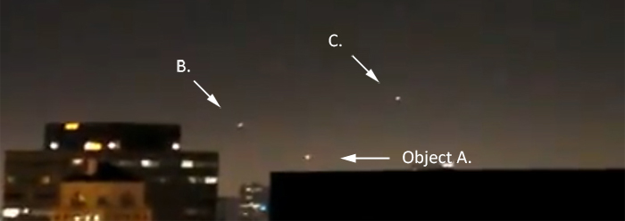 Helicopters investigates UFOs over Hollywood